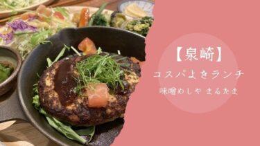 【泉崎ランチ】手作り・無添加お味噌を使ったごはん